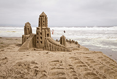 Sand Castle at the Beach; Photo credit: thath (Creative Commons)